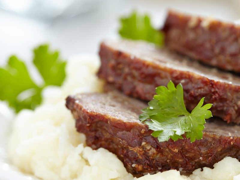 Caramelized Onion Glazed Meatloaf