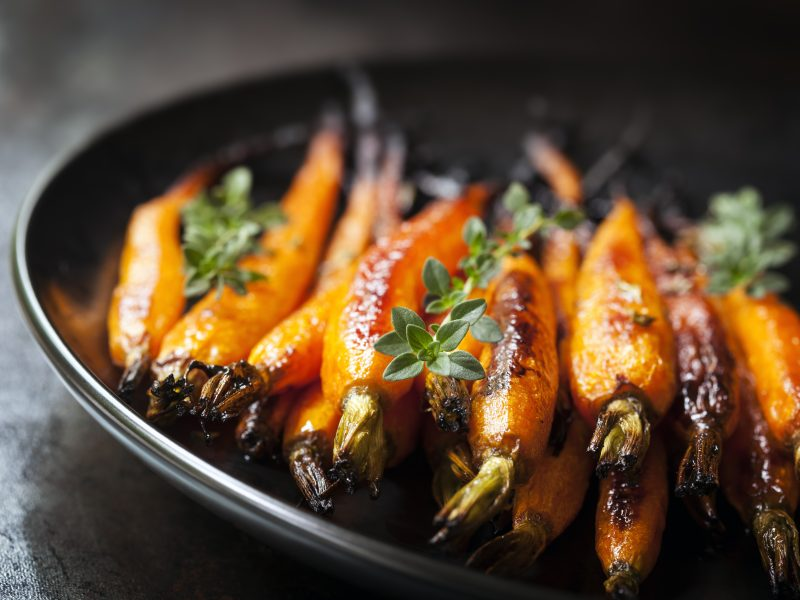 Roasted Baby Carrots with Balsamic Glaze