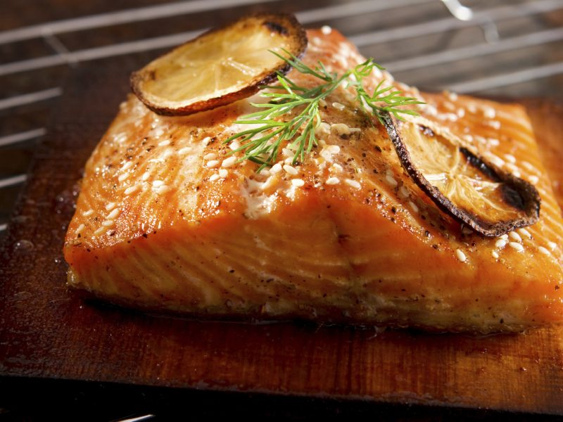 Lemon Ginger Glazed Salmon