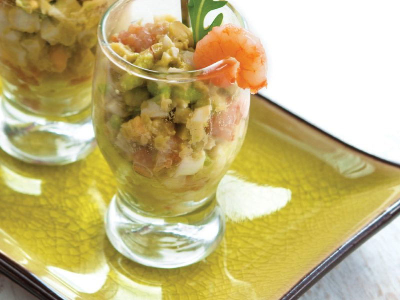 Spicy Avocado Seafood Shooter