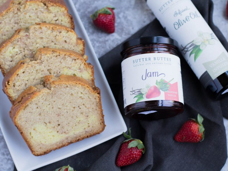 Strawberry Vanilla Olive Oil Cake