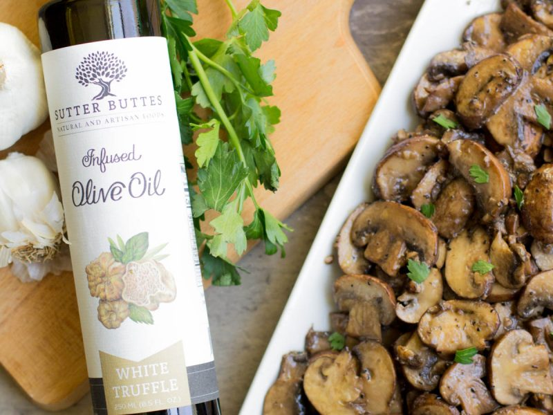 White Truffle Garlicky Mushrooms