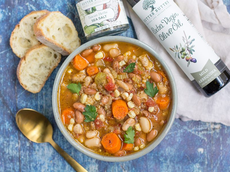 Mixed Bean & Veggie Soup