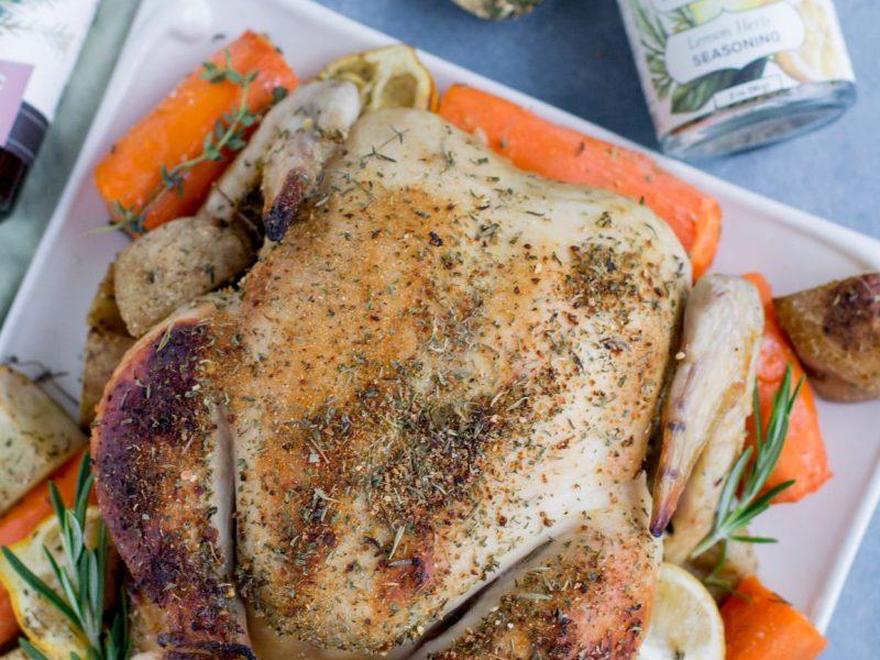 Lemon Herb and Garlic Roasted Chicken