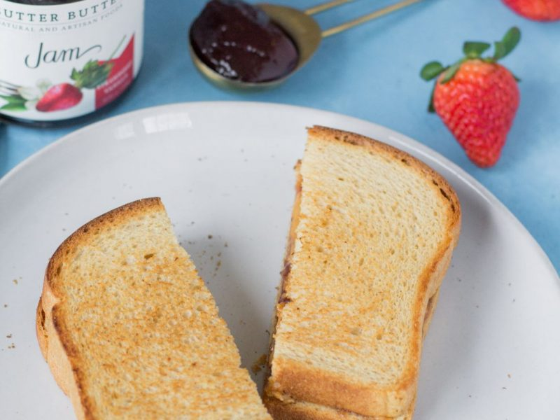 Strawberry Vanilla Grilled PB&J