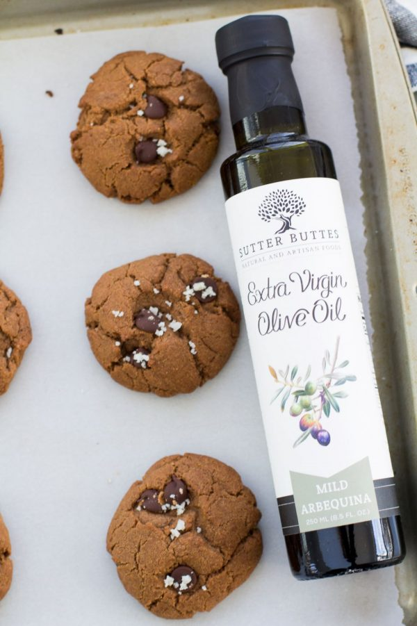 double chocolate olive oil cookie