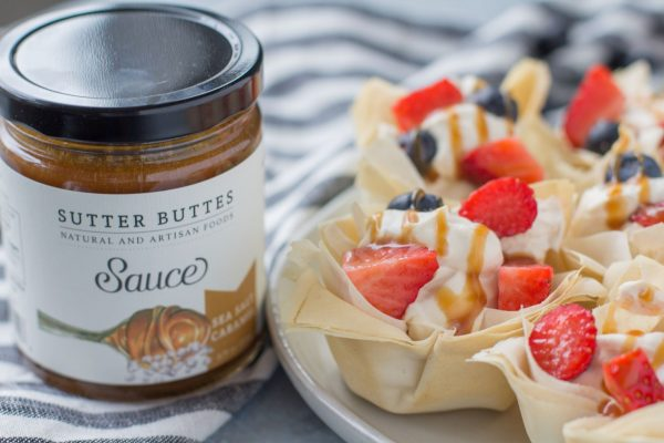 caramel mousse pastry cups