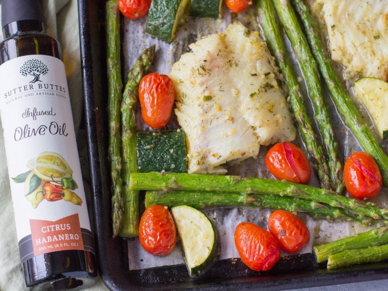 Citrus Habanero Baked Cod with Vegetables