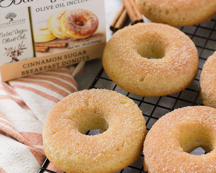 Cinnamon Sugar Breakfast Donuts