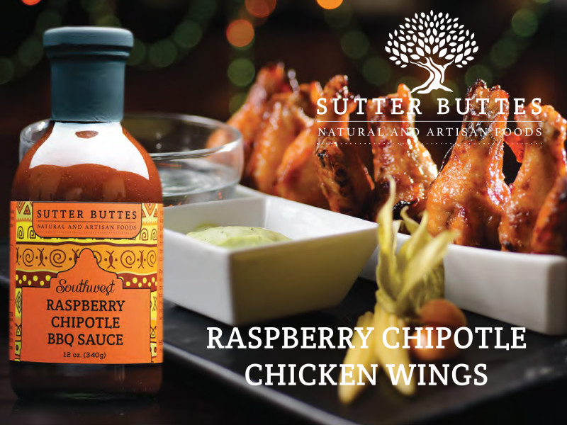Raspberry Chipotle Chicken Wings