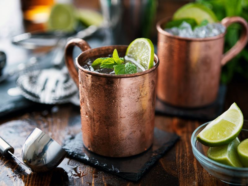 Lime Ginger Mule Cocktails