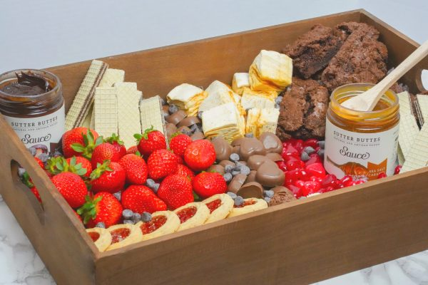 Sweet treats platter with brownies and other goodies