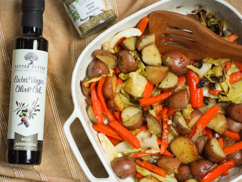 Roasted Red Potatoes and Cabbage